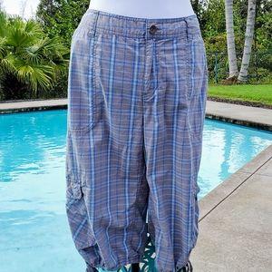 Life Is Good Capri plaid cargo style pants, sz 18